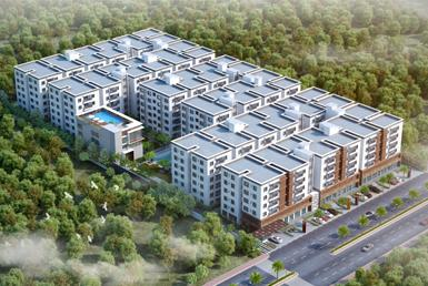 Gallery Cover Image of 1560 Sq.ft 3 BHK Apartment for buy in Fortune Mayura, Bachupally for 7600000