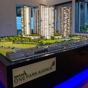 Gallery Cover Image of 1170 Sq.ft 3 BHK Apartment for buy in Man One Park Avenue, Thane West for 17500000