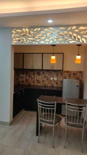 Kitchen Image of 750 Sq.ft 1 BHK Independent Floor for rent in Sushant Lok I for 26000