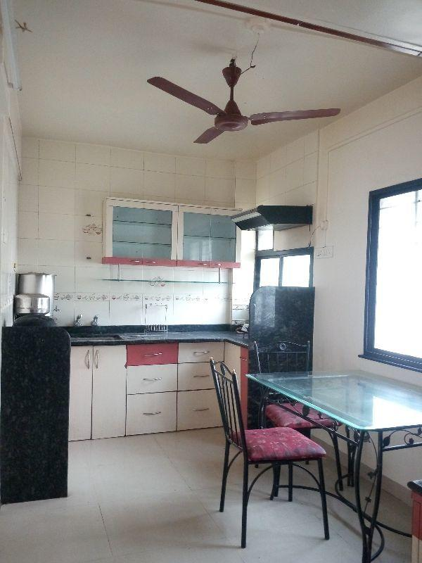 Kitchen Image of 950 Sq.ft 2 BHK Apartment for rent in Vadgaon for 25000