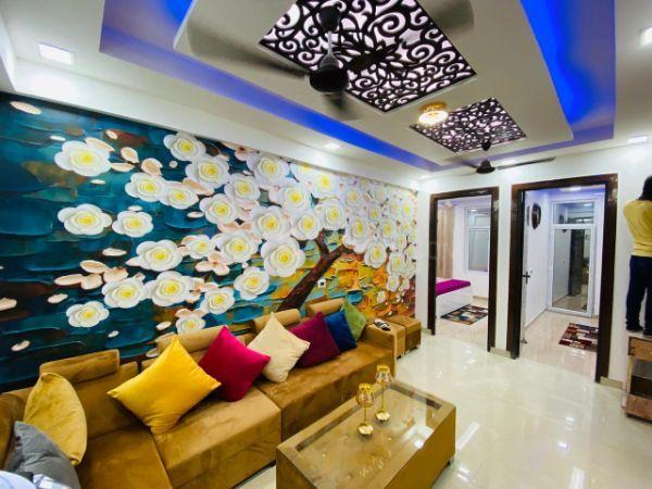 Living Room Image of 610 Sq.ft 1 BHK Apartment for buy in Ambesten Twin County, Noida Extension for 1625000