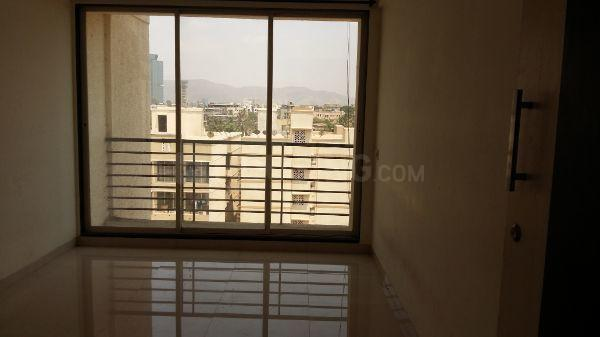 Living Room Image of 650 Sq.ft 1 BHK Apartment for rent in Ghansoli for 15000
