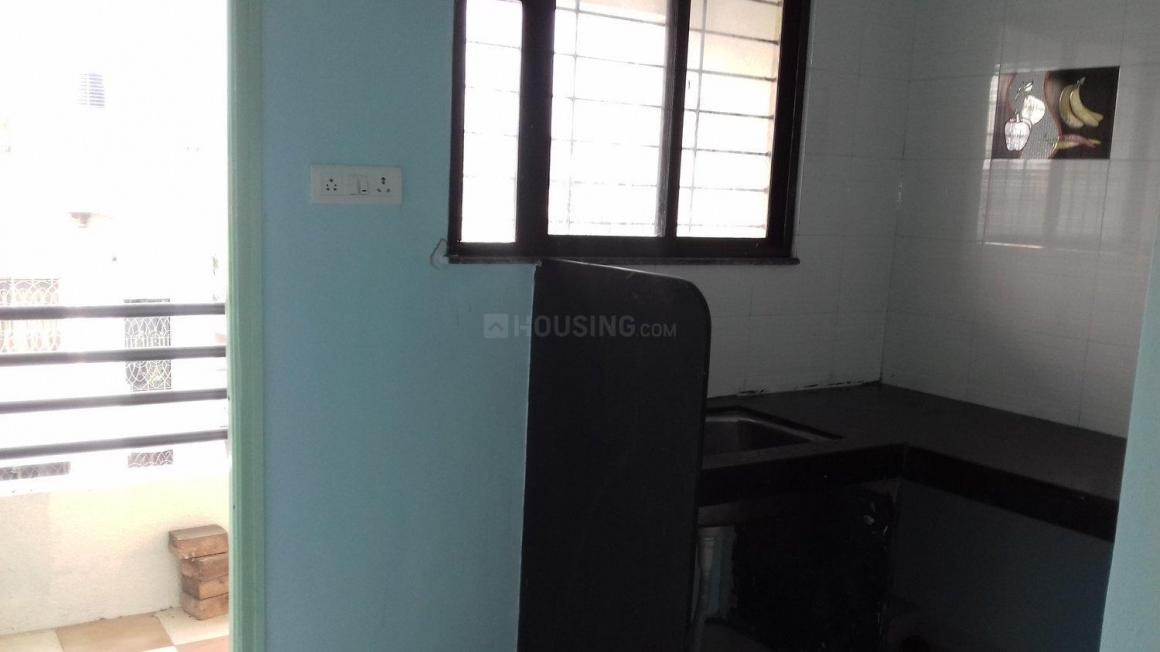 Kitchen Image of 625 Sq.ft 1 BHK Apartment for rent in Wadgaon Sheri for 12500