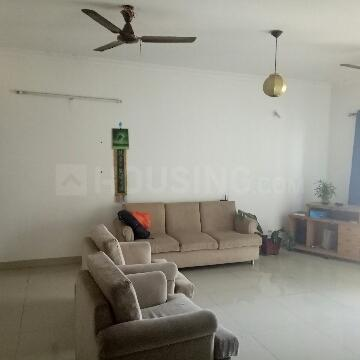 Living Room Image of 622 Sq.ft 1 RK Apartment for rent in Marathahalli for 23000