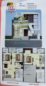 Gallery Cover Image of 800 Sq.ft 3 BHK Villa for buy in R S Ajmer Square, Makadwali for 3700000