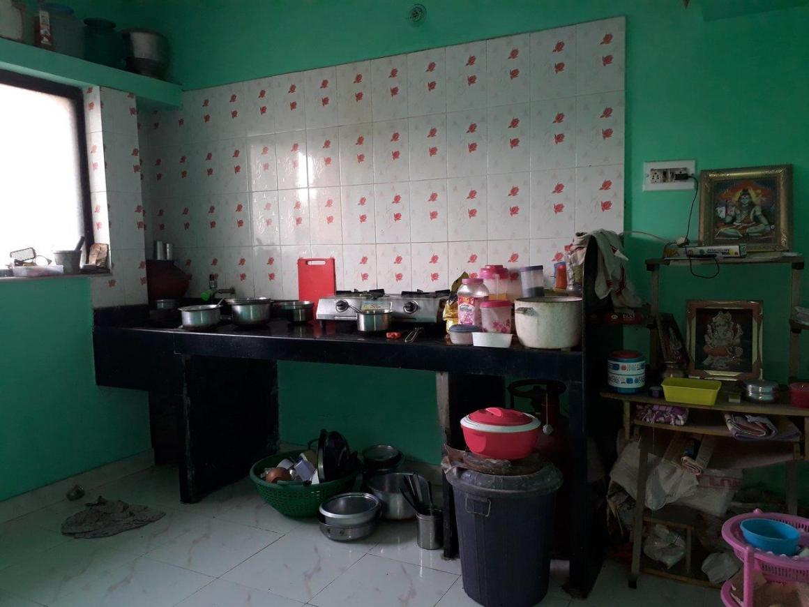 Kitchen Image of 400 Sq.ft 1 RK Apartment for rent in Kothrud for 10000
