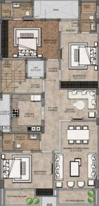 Gallery Cover Image of 1400 Sq.ft 3 BHK Independent Floor for buy in South Extension II for 40000000