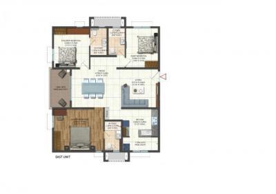 Gallery Cover Image of 1793 Sq.ft 3 BHK Apartment for buy in Brigade Citadel, Erragadda for 11367620