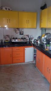 Kitchen Image of Girls PG Double Sharing PG Accommodation In Malviya Nagar Near Metro Station in Malviya Nagar