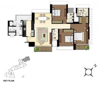 Gallery Cover Image of 1980 Sq.ft 3 BHK Apartment for rent in Wadala East for 100000