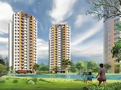 Gallery Cover Image of 695 Sq.ft 1 BHK Independent Floor for buy in Lodha Casa Rio, Palava Phase 1 Nilje Gaon for 400000