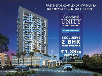 Gallery Cover Image of 1020 Sq.ft 2 BHK Apartment for buy in Goodwill Unity, Sanpada for 14400000