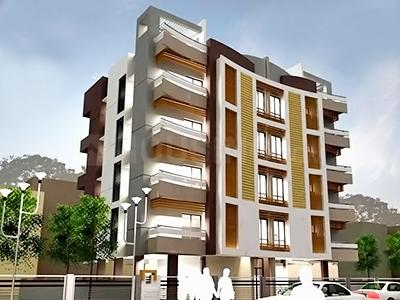 Gallery Cover Image of 750 Sq.ft 2 BHK Apartment for buy in Snowfall Grahams Residency, Tollygunge for 2300000