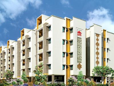 Gallery Cover Image of 1410 Sq.ft 3 BHK Apartment for rent in KG Good Fortune, Perumbakkam for 20000