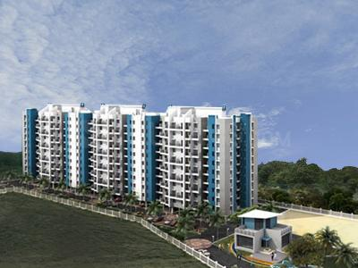 Gallery Cover Image of 408 Sq.ft 1 BHK Apartment for rent in Dreams Wisteria, Yewalewadi for 8600
