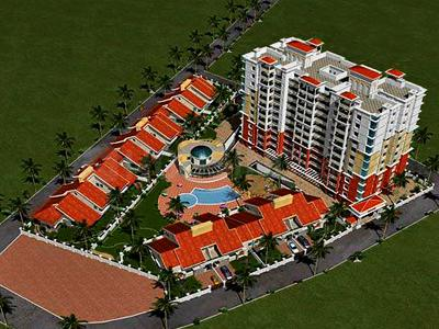 Gallery Cover Image of 1950 Sq.ft 3 BHK Apartment for rent in Aswani Rosary, Ghorpadi for 45000