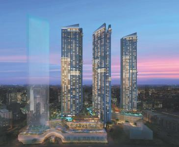 Gallery Cover Image of 1200 Sq.ft 2 BHK Apartment for buy in Sheth Auris Serenity Tower 3, Malad West for 22000000