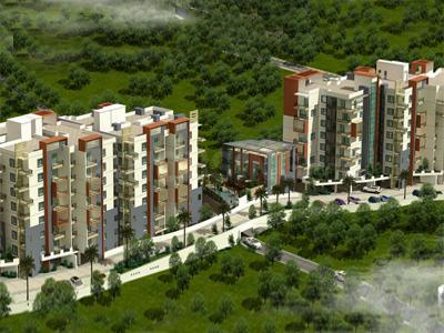 Gallery Cover Image of 1300 Sq.ft 2 BHK Apartment for buy in Foyer Infinity, Whitefield for 6900000