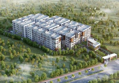 Gallery Cover Image of 1240 Sq.ft 2 BHK Apartment for buy in Fortune Green Golden Oriole, Puppalaguda for 6500000