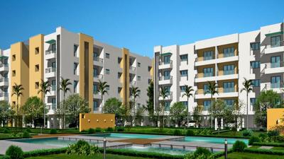 Gallery Cover Image of 1199 Sq.ft 2 BHK Apartment for buy in Jains Palm N Meadows, Avinashi Taluk for 3500000