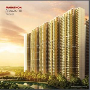 Gallery Cover Image of 1050 Sq.ft 2 BHK Apartment for rent in Marathon Nexzone Aura 1, Panvel for 16000