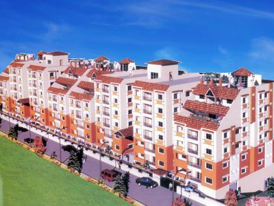 Gallery Cover Image of 700 Sq.ft 1 BHK Apartment for buy in Sri Vishnus Grande Vista, Pragathi Nagar for 2980000