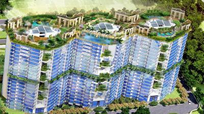 Gallery Cover Image of 1240 Sq.ft 3 BHK Apartment for buy in Raheja Vanya, Sector 99A for 9738000