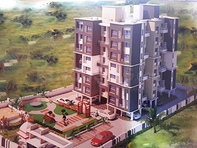 Gallery Cover Image of 800 Sq.ft 2 BHK Apartment for rent in Maitri Residency, Shikrapur for 8500