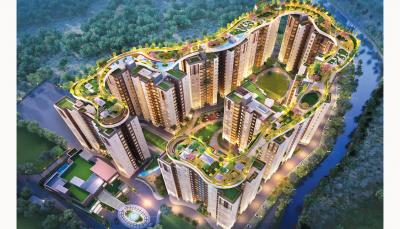 Gallery Cover Image of 991 Sq.ft 3 BHK Apartment for buy in Siddha Galaxia, New Town for 4800000