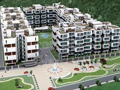 Gallery Cover Image of 1232 Sq.ft 2 BHK Apartment for buy in Royal Amar Green, Lasudia Mori for 3500000