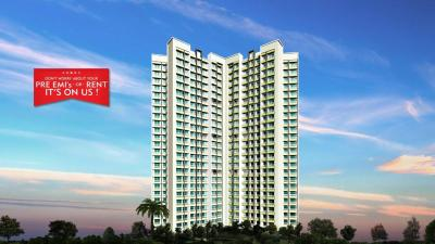 Gallery Cover Image of 680 Sq.ft 1 BHK Apartment for rent in Gajra Bhoomi Lawns, Shilphata for 8000