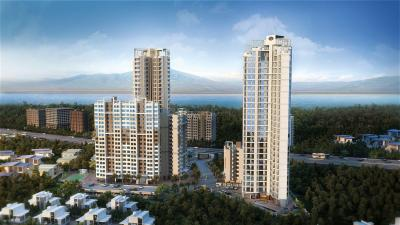 Gallery Cover Image of 1500 Sq.ft 3 BHK Apartment for rent in Harmony Sky Suites, Thane West for 31000