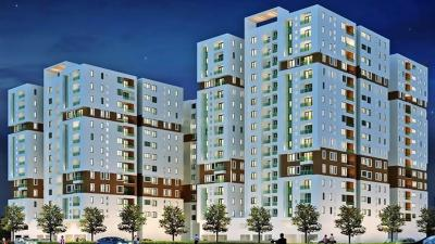 Gallery Cover Image of 622 Sq.ft 1 BHK Apartment for rent in Radiance Mandarin, Thoraipakkam for 18000