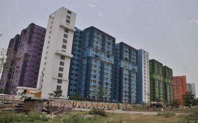 Gallery Cover Image of 444 Sq.ft 2 BHK Apartment for rent in NBCC Vibgyor Towers, New Town for 23000