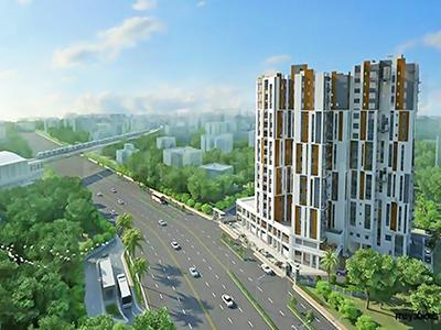 Gallery Cover Image of 1200 Sq.ft 3 BHK Apartment for buy in Modello Highs, Rajpur Sonarpur for 11200000