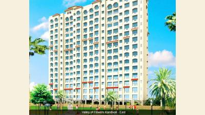 Gallery Cover Image of 650 Sq.ft 1 BHK Apartment for rent in Gundecha Valley Of Flowers, Kandivali East for 26000
