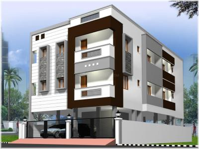 Gallery Cover Image of 1097 Sq.ft 2 BHK Apartment for buy in KSR Raj Paradise, Porur for 5800000