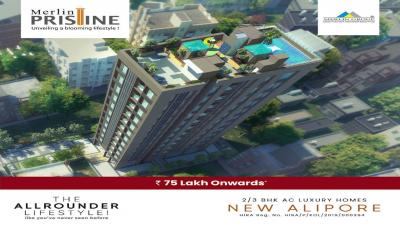 Gallery Cover Image of 1200 Sq.ft 3 BHK Apartment for rent in Merlin Pristine, New Alipore for 50000