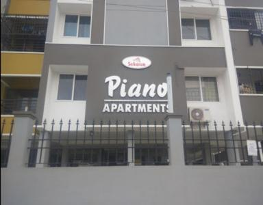 Gallery Cover Image of 1200 Sq.ft 3 BHK Apartment for rent in Piano Apartments, Perumbakkam for 18000