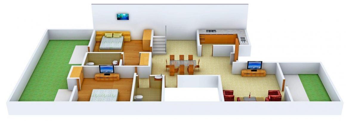Floor Plan Image of 0 - 2305 Sq.ft 3 BHK Villa for buy in Ansal Olivewood Villa