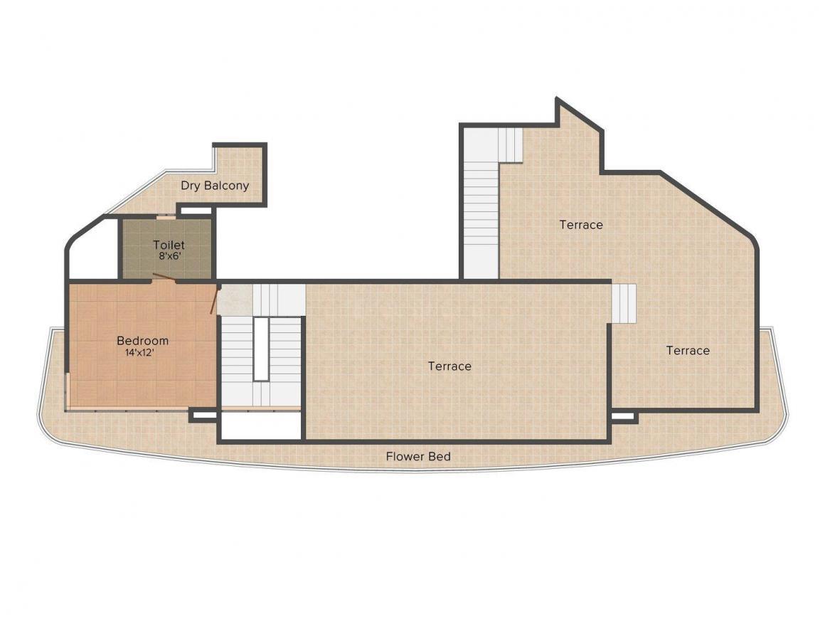 Floor Plan Image of 0 - 2181.0 Sq.ft 3 BHK Apartment for buy in Spark Desai Residency