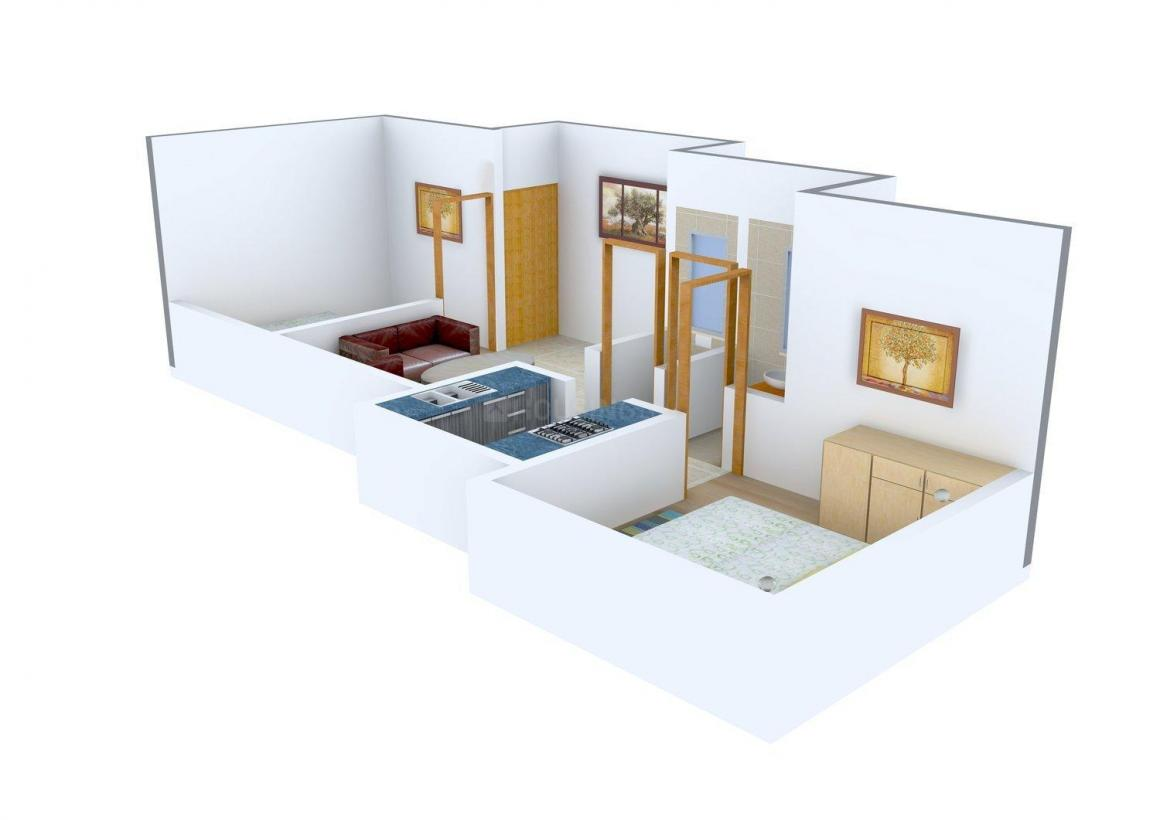 Floor Plan Image of 0 - 585 Sq.ft 2 BHK Apartment for buy in Suvidha Manish Enclave