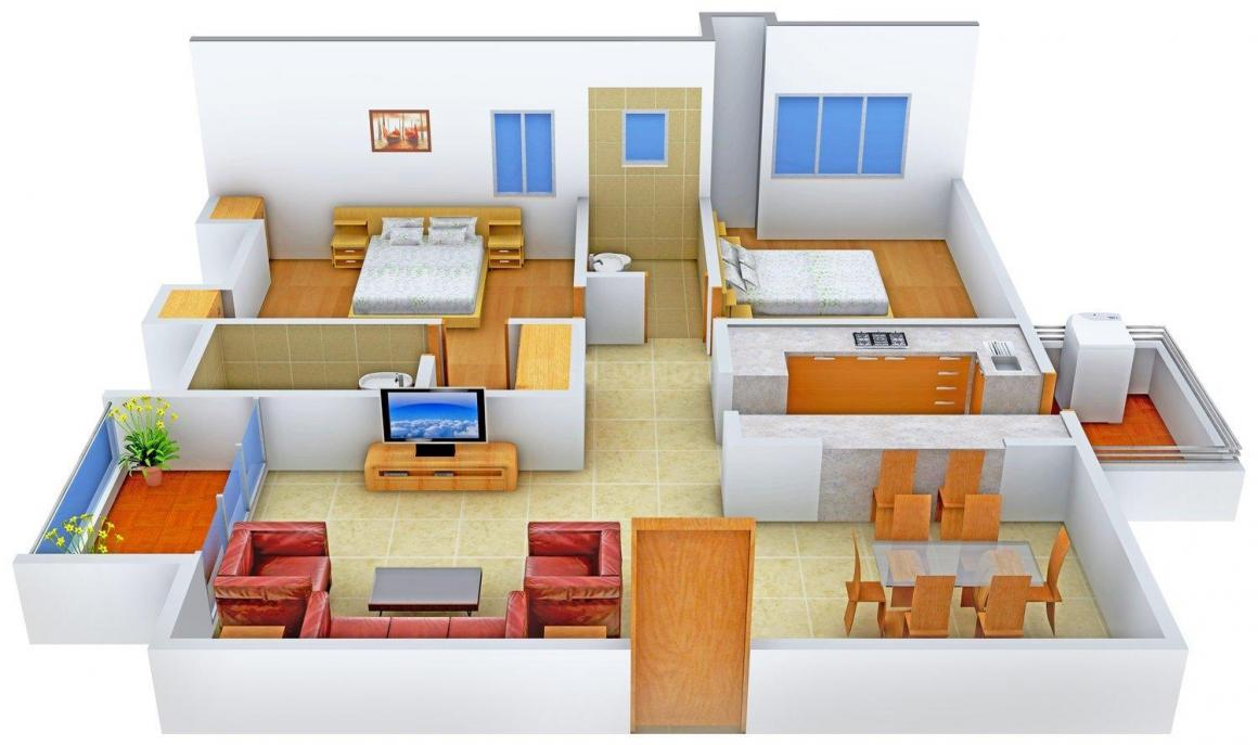 Floor Plan Image of 1494.0 - 2641.0 Sq.ft 2 BHK Apartment for buy in Mahima Elanza