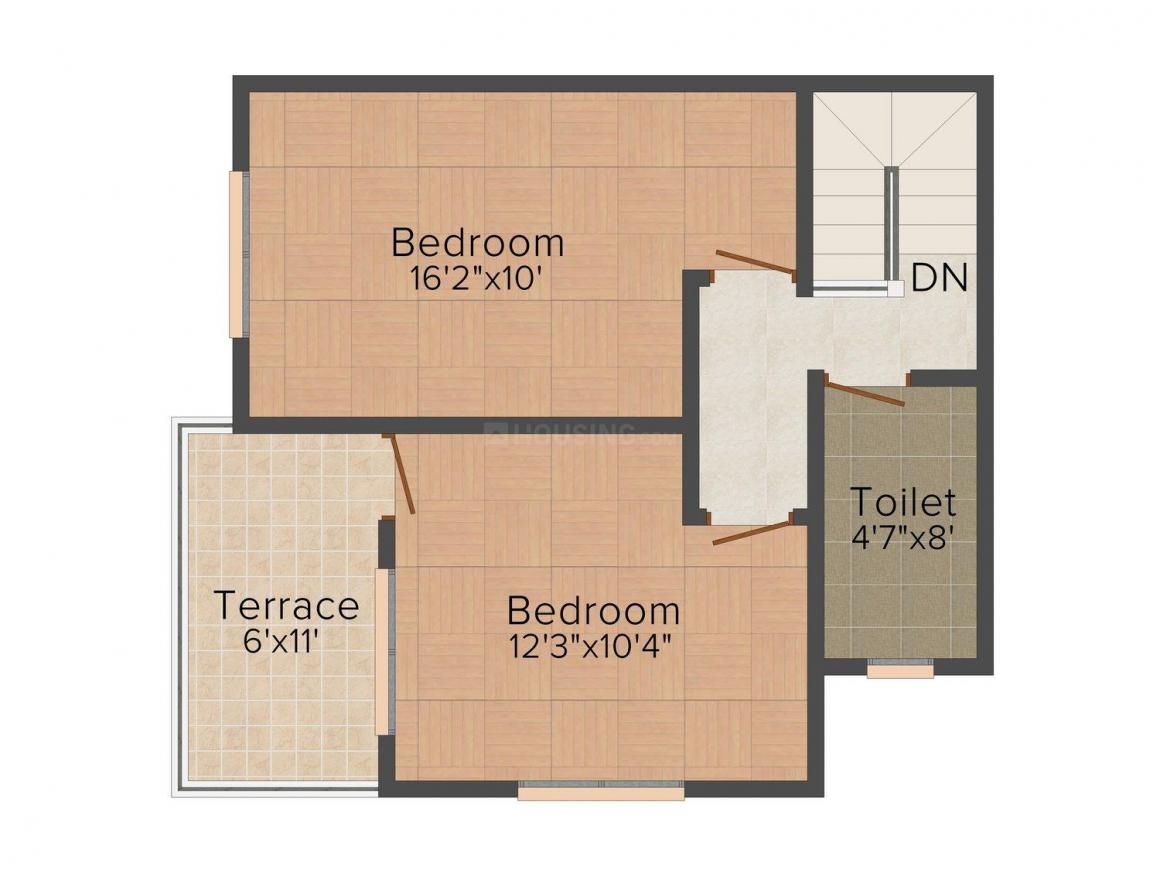 Floor Plan Image of 0 - 1229 Sq.ft 2 BHK Row House for buy in Ganadhish Vrindavan Park