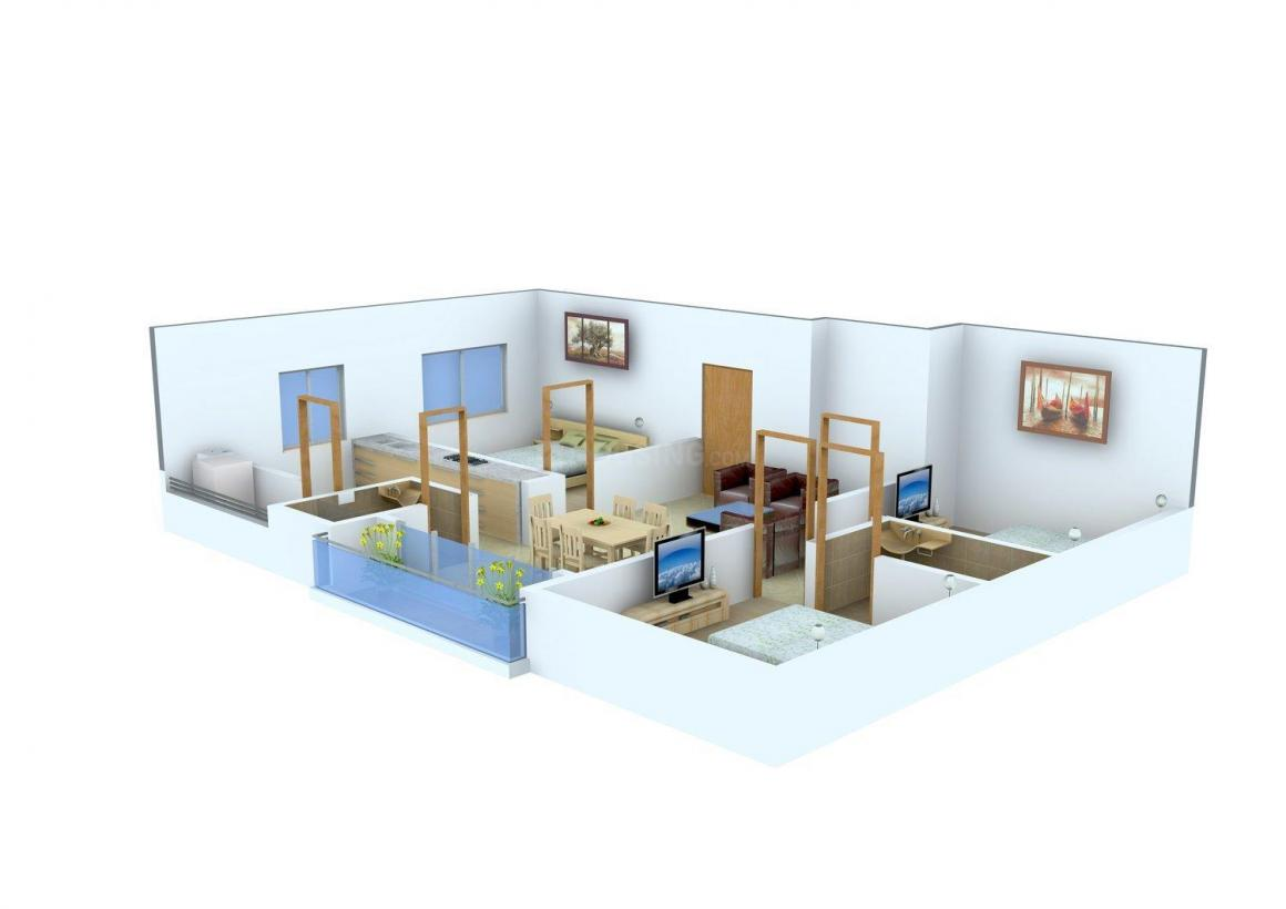 Floor Plan Image of 1132.0 - 1155.0 Sq.ft 3 BHK Apartment for buy in Arasur Ampal