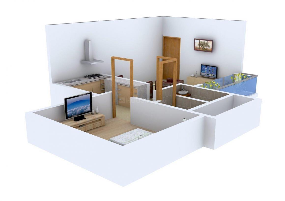 Floor Plan Image of 0 - 545 Sq.ft 1 BHK Apartment for buy in Global Morya Diamond Plaza