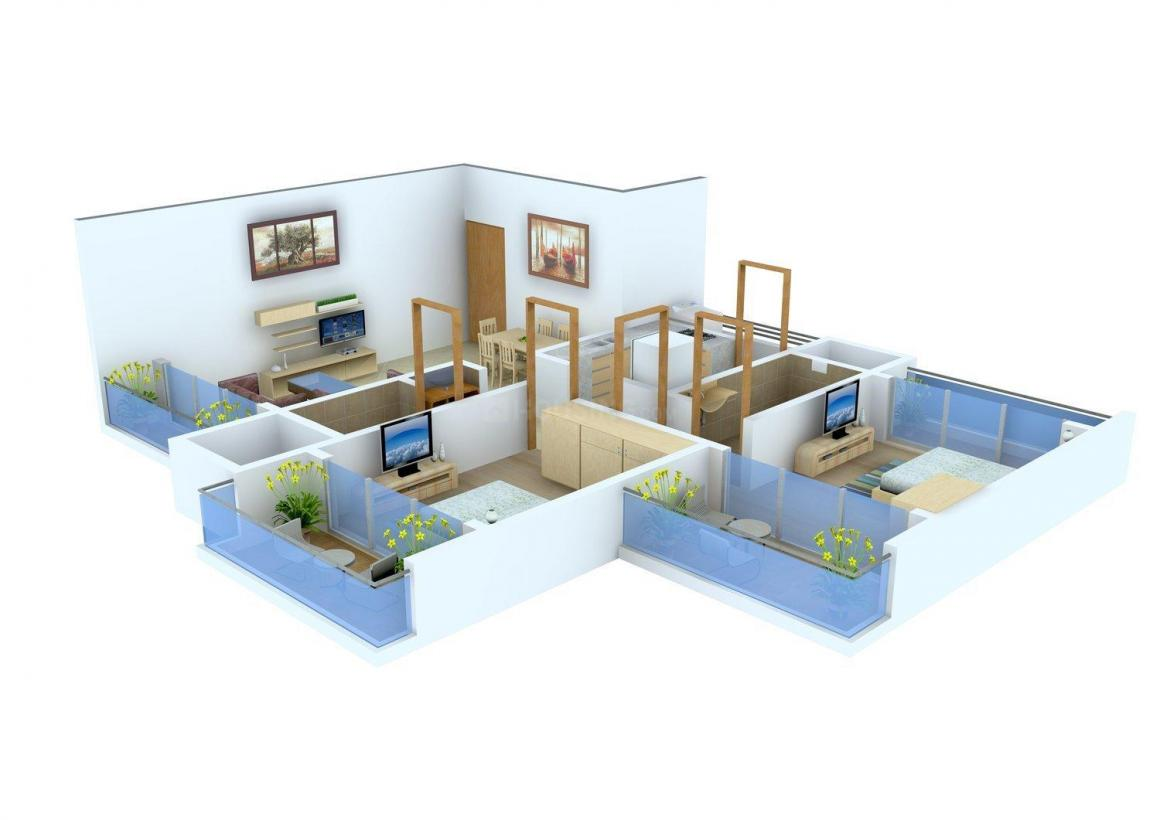 Floor Plan Image of 0 - 820.0 Sq.ft 2 BHK Apartment for buy in Usha Heights