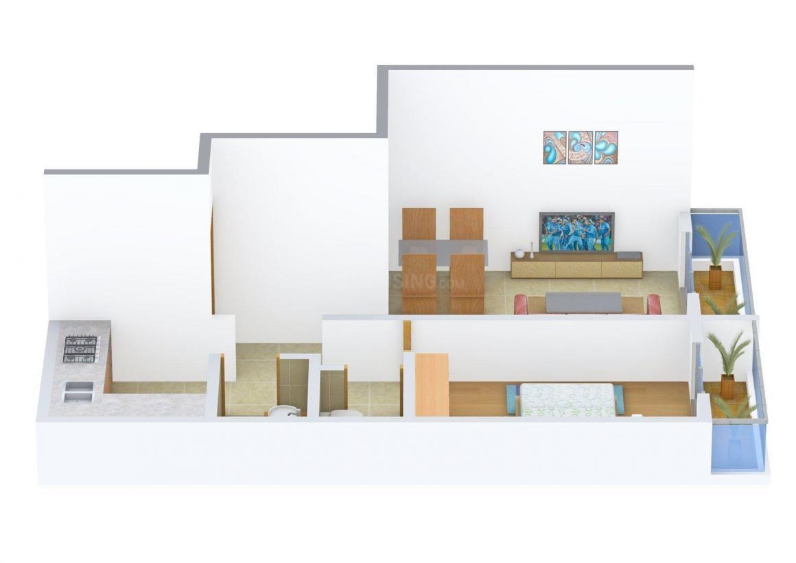 Floor Plan Image of 628 - 1071 Sq.ft 1 BHK Apartment for buy in Haware Tilak Nagar