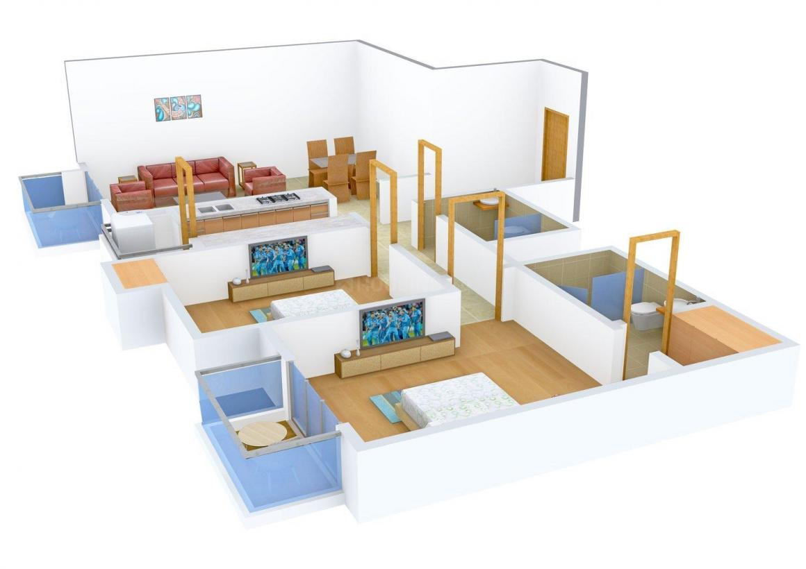 Floor Plan Image of 1300.0 - 2225.0 Sq.ft 2 BHK Apartment for buy in Umang Monsoon Breeze Phase 2