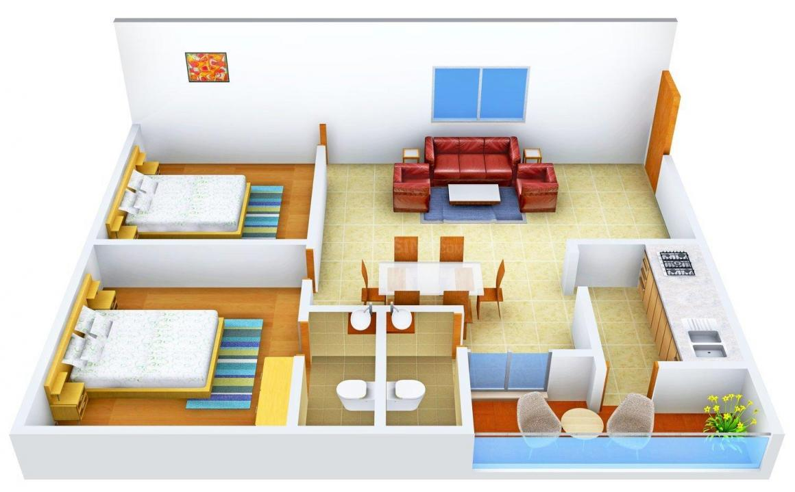 Floor Plan Image of 1080 - 1210 Sq.ft 2 BHK Apartment for buy in Star Avenue